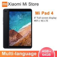 Оригинальный Xiaomi mi Pad 4 таблетки ПК 8,0 дюймов mi UI 10 Snapdragon 660 Восьмиядерный 32 ГБ/64 Гб 5.0MP + 13.0MP задняя фронтальная камера двойной WiFi