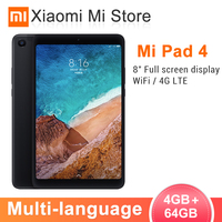 Original Xiaomi Mi Pad 4 Tablets PC 8.0 Inch MIUI 10 Snapdragon 660 Octa Core 32GB/64GB 5.0MP+13.0MP Front Rear Camera Dual WiFi