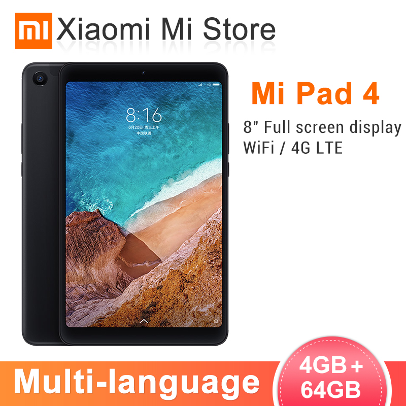 Xiao mi Pad d'origine 4 tablettes PC 8.0 pouces mi UI 10 Snapdragon 660 Octa Core 32 GB/64 GB 5.0MP + 13.0MP caméra avant arrière double WiFi