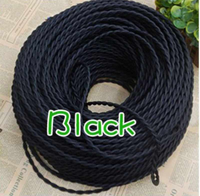 2*0.75mm fil électrique torsadé Textile câble pendentif lampe cordon Edison Vintage éclairage aérien pendentif lumière fil