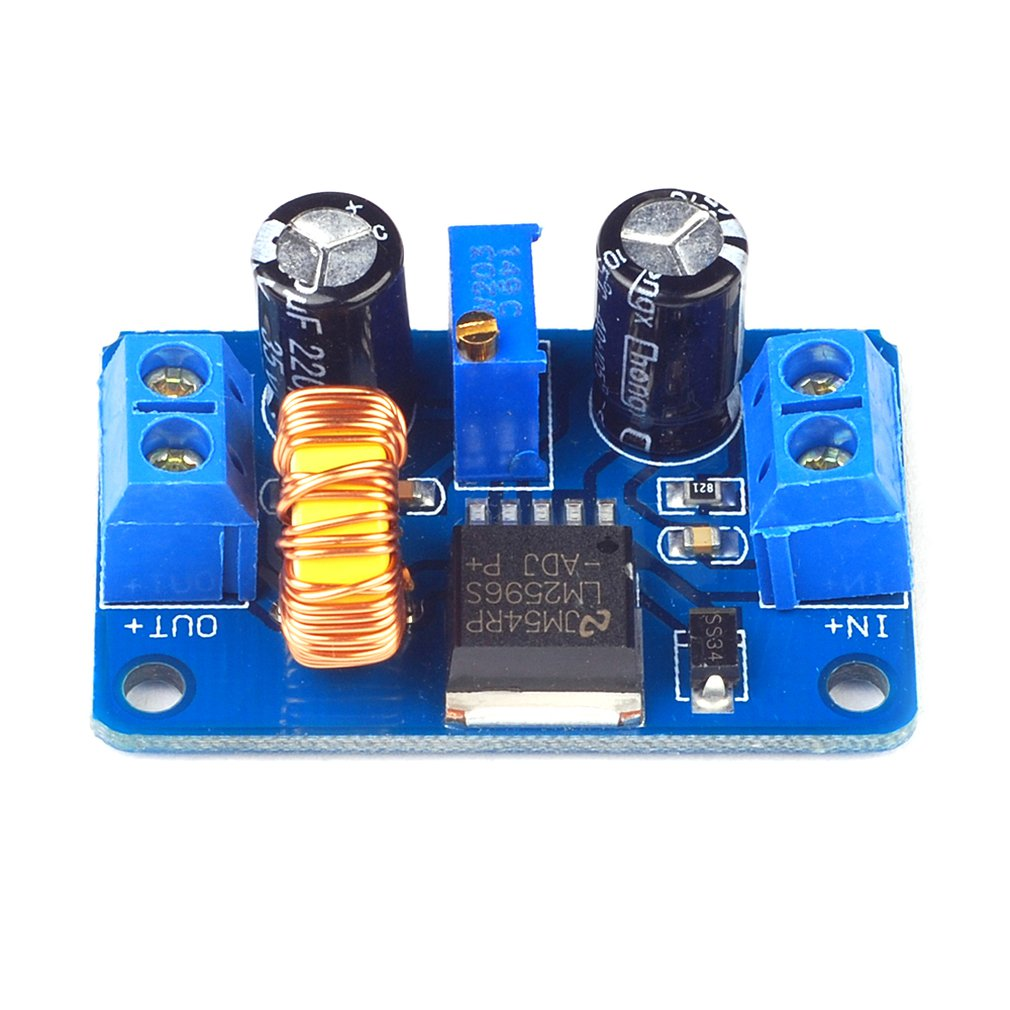 Dc-Dc Step-Down Module Adjustable Step-Down Switching Power Supply Module With Terminal Block Lm2596 Module