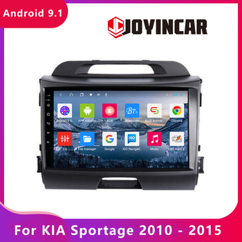 JOYINCAR Android 9.1 For KIA Sportage 2010 2011 2012 2013 2014 2015- Multimedia Stereo Radio Car DVD Player GPS Navi Autoradio image