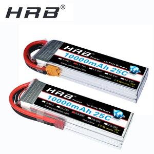 Image 1 - Аккумулятор HRB RC Lipo 2S 3S, 10000 мА/ч, для радиоуправляемого вертолета, беспилотника XT60, 6S, 7,4 В, 11,1 В, 14,8 в, 22,2 в, в, 25C MAX, 50C, XT60 T