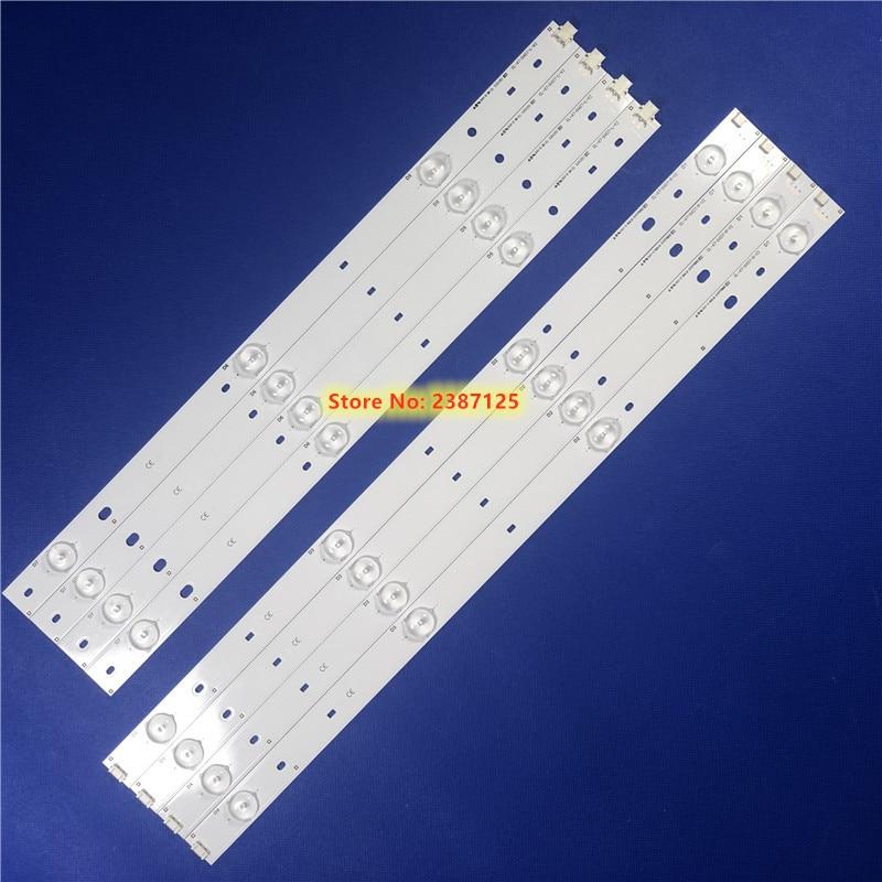 1set=8pcs (4R+4L) LED Strips For Phi Lips CL-47-D407-R-V2 CL-47-D407-L-V2 DT-BCMN-U6 DB-B23-U6 For 47PFL5708/F7 47PFG4109/78