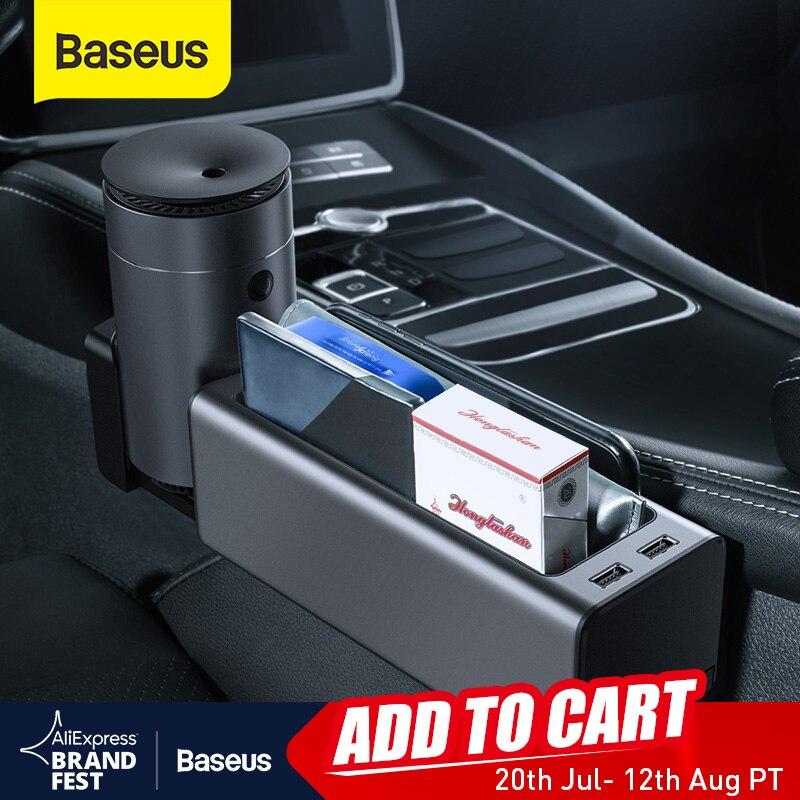 Baseus 자동차 주최자 자동 좌석 틈새 갭 스토리지 박스 컵 전화 홀더 포켓 Stowing 정리 주최자 자동차 액세서리