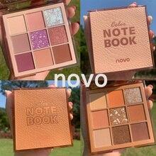 NOVO 9 Colors Node Book Eyeshadow Glitter Pallete Makeup Pigmented Matte Shimmer Eye Shadow Palette Nude Make Up Maquillage недорого