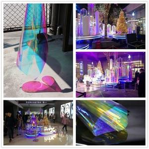 Image 3 - SUNICE 百貨店ホーム Fesitval DIY レインボー効果窓フィルム玉虫色装飾ガラス粘着 68 センチメートル × 700 センチメートル