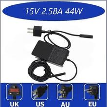 Original novo 15v 2.58a para microsoft nova superfície pro5 \ 6 portátil adaptador de energia 1800 1796 44w carregador