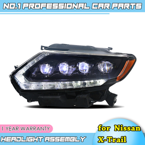 Image 3 - car accessories for Nissan X Trail Headlights 2014 17 Nissan X Trail LED Headlight DRL Lens Double Beam