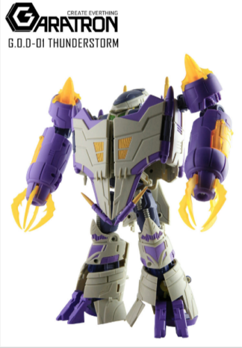 Perfect New Garatron God-01 Thunderstorm Thunderwing Figure In Stock