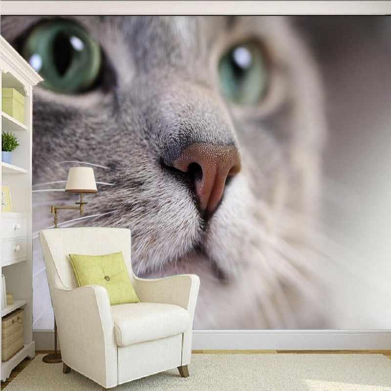 Drop Shipping Photo Wallpaper Hd Beautiful Cute Cat Photography Close Tv Background Wall Living Room Wallpaper Lobby Mural Aliexpress