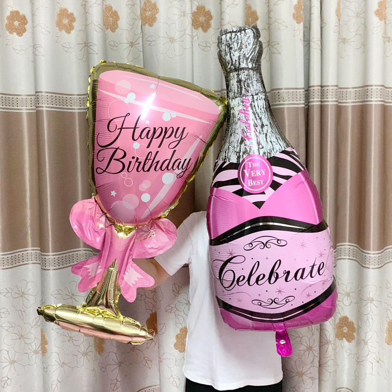 Champagne Goblet Big Helium Balloon For Wedding And Birthday Party Decorations