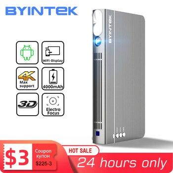 BYINTEK P12 Mini 3D 4K 300inch Smart Wifi Pocket Portable Video Beamer LED DLP lAsEr Mobile Projector For Smartphone