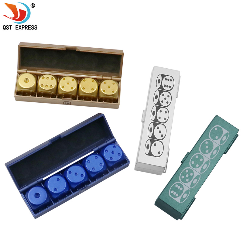 Metal Dice Gold Silver Pure Color Aluminum Club Bar Drinking Playing Game Tool