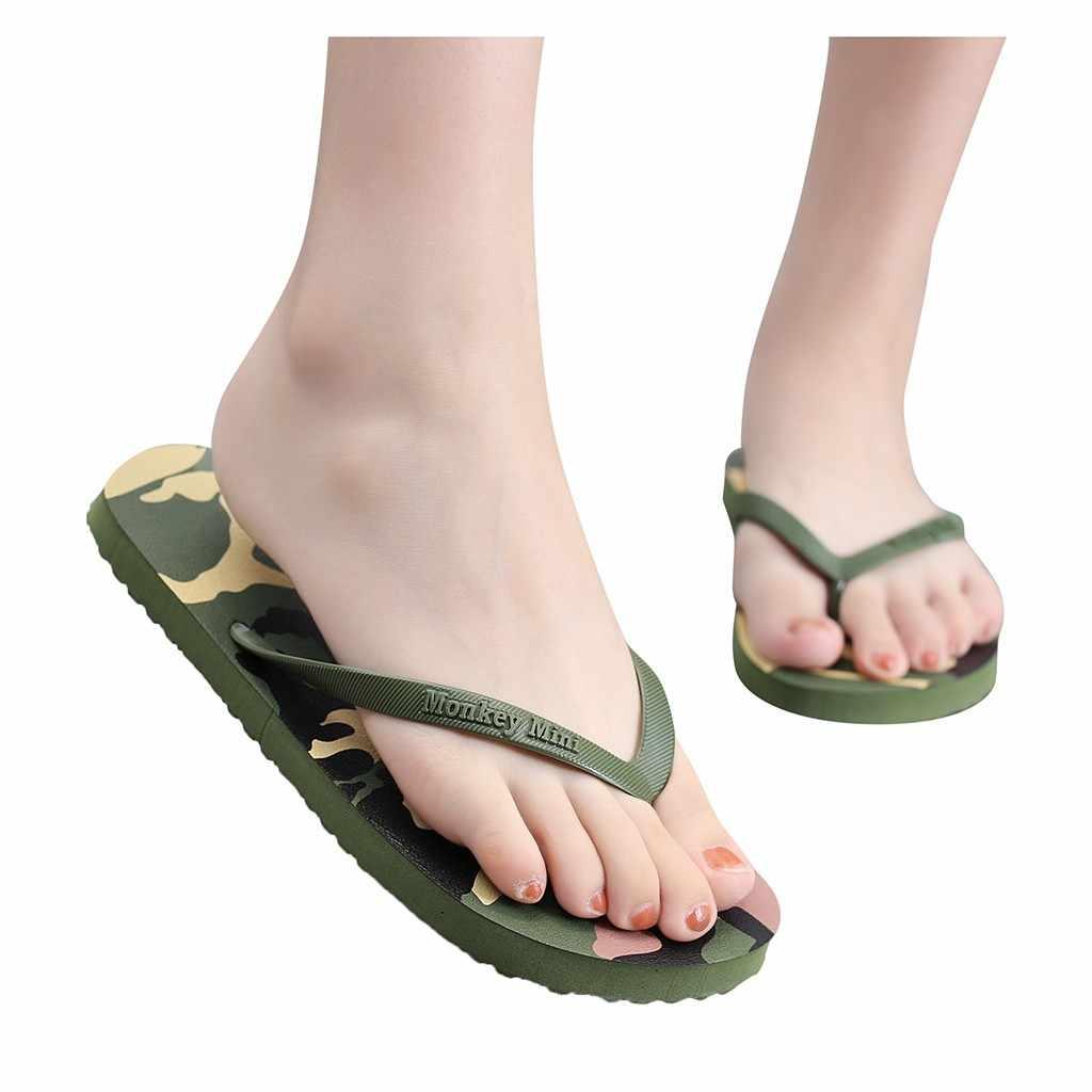 ผู้หญิงผู้ชาย Camouflage รองเท้าแตะรองเท้ารองเท้าแตะรองเท้าแตะในร่มกลางแจ้งลื่นรองเท้า sapato masculino