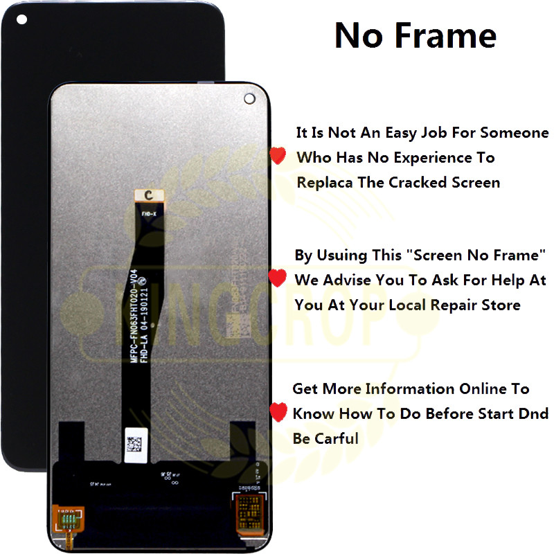 Original for Huawei Honor 20 LCD Display with Frame Screen Touch Digitizer Assembly LCD Displa For YAL L21Touch Repair Parts-in Mobile Phone LCD Screens from Cellphones & Telecommunications    3