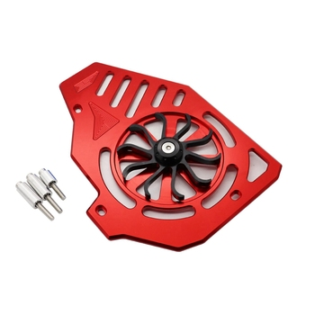 Motorcycle Water Tank Fan Blade Cover Heat Dissipation Maple Leaf Cover for Yamaha NMAX155 Honda PCX125/150 Red image