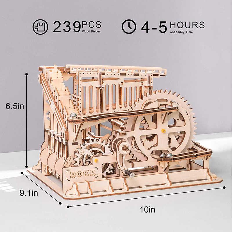 Robotime Gara Marmo Run Labirinto Sfere Pista FAI DA TE 3D Puzzle Di Legno Coaster Corredi di Costruzione di Modello Giocattoli per I Bambini Trasporto di Goccia