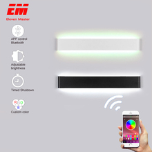 Rectangle Led Wall Lamp Sconces smart House RGB Dimmable APP Remote control Bluetooth bedroom lamp Bathroom Mirror Light ZBD0001