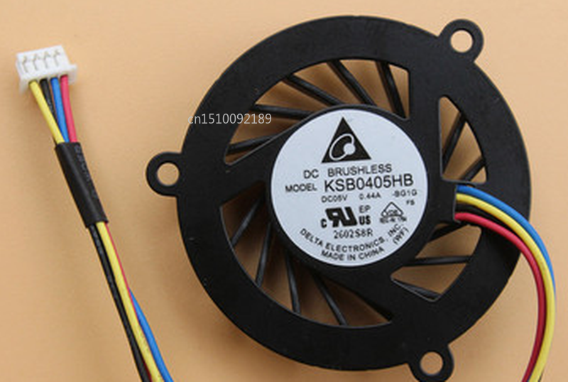 Free Shipping CPU Cooling Fan Cooler For KSB0405HB-BG1G KSB0405HB BG1G DC5V 0.44A 4PIN