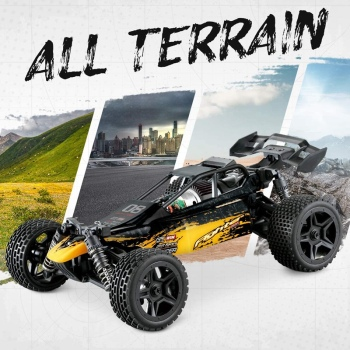 1:16 Radio RC Car High Speed RC Cars 4WD 36KM/H Off Road Buggy Truck Electric Drift Toy Trucks Yellow 2