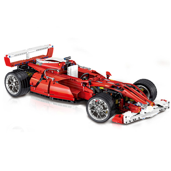 LIN0011 Red F1 Formula Sports Car Micro-particle Assembly Toy Block Car Toys For Children