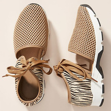Shoes Sneakers Women Lace-Up Breathable Platform-Trainers Mesh Zipper Casual Fashion