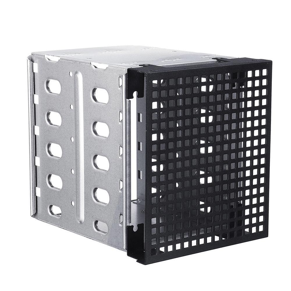 "5,25 ""до 5x3,5"" SATA SAS кассета hdd стойка жесткий диск лоток диско Дуро externo hdd 3,5 Caddy адаптер конвертер с вентилятором пространство Щепка"