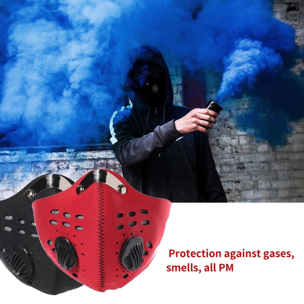 Face Anti Dust Pollution Mask Activated Carbon Dustproof Cycling Mask N99 Filters Neoprene Air Pollution Mouth Mask Face Cover