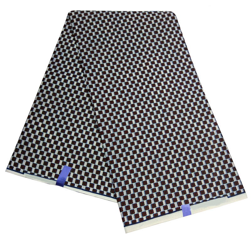 2019 New African Print Fabric African Dashiki Lattice Print Fabric 6Yards\lot