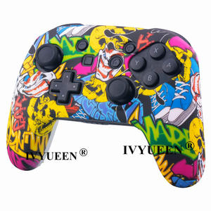 Image 3 - IVYUEEN Anti slip Silicone Skin Cover for Nintend Switch NS Pro Controller Protective Case Analog Stick Caps for Nintendo Switch
