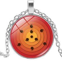 Круглый глаз ниндзя из мультфильма стеклянный кабошон ожерелье