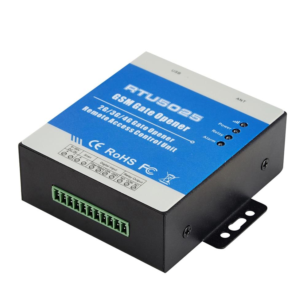 Commutateur à distance sans fil d'ouverture de porte de GPRS par l'intermédiaire du réseau de GSM pour des portes de contrôle d'accès de porte système de stationnement de voiture RTU5025 - 2