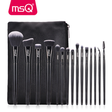 MSQ 15pcs Makeup Brushes Set pincel maquiagem Black Classical Powder Foundation Eyeshadow Make Up Brushes Synthetic Hair