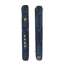 Sac de transport pour épée d'arts martiaux, étui épais à une ou deux couches en cuir de Tai Chi de 110cm x 14cm