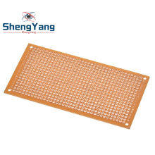 Single Side Wholesale universal 5x10cm Solderless PCB Test Breadboard Copper Prototype Paper Tinned Plate Joint holes DIY