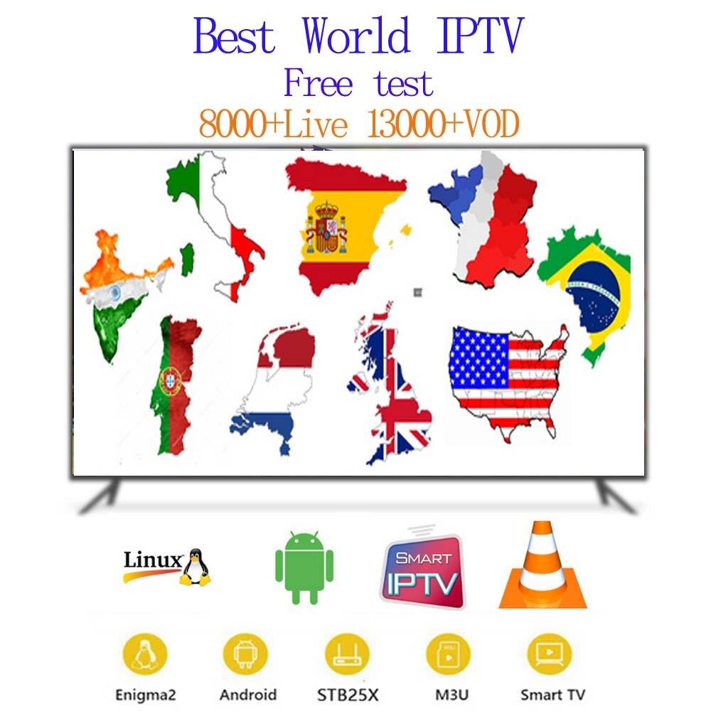 Italy iptv subscription 8000 live 13000 VOD android tv box europe spain German USA UK Portugal smart IPTV M3U mag