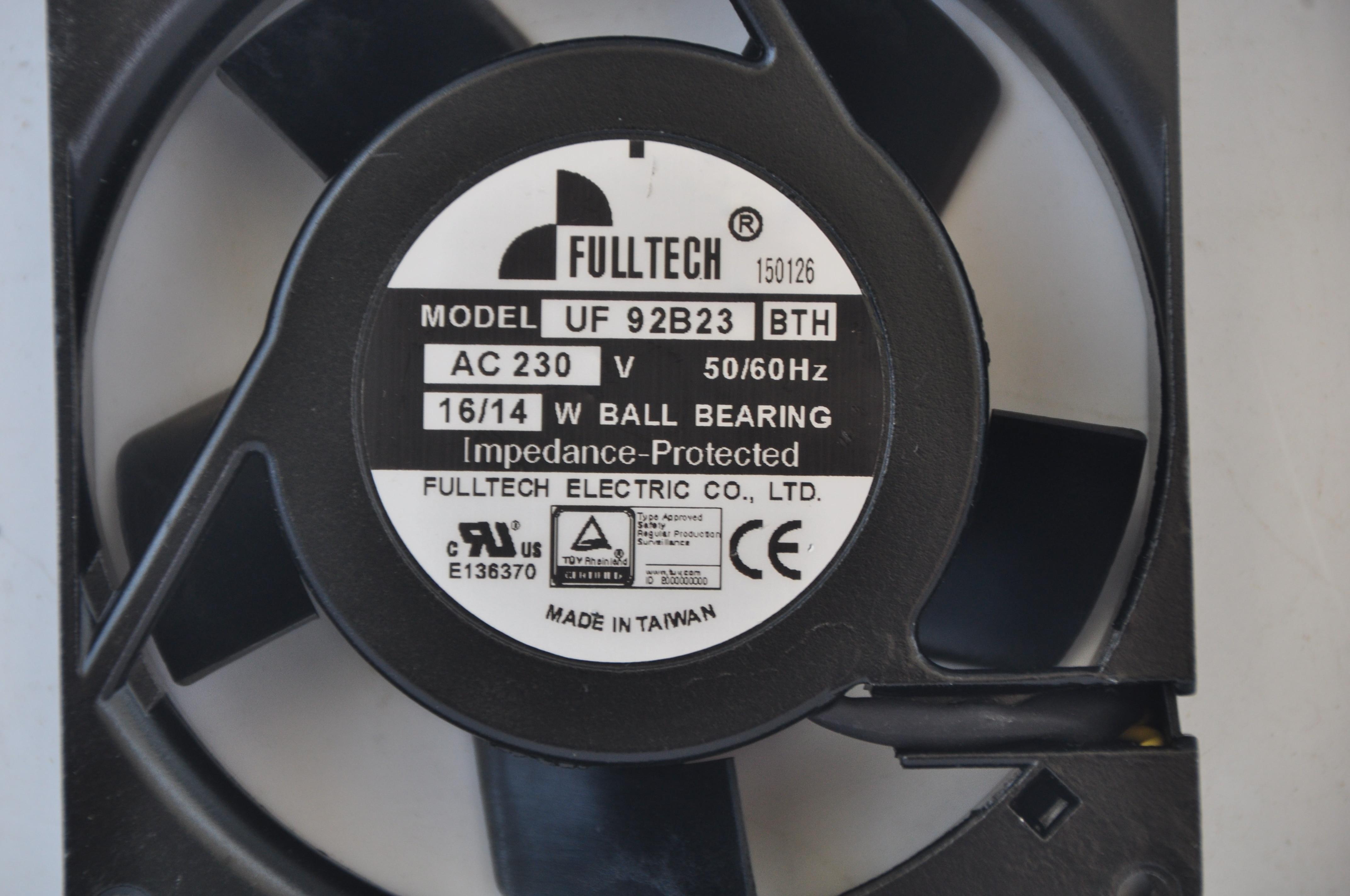 FULLTECH UF-92B23 BTH 230V 16W 9CM 9225 Metal Cooling Fan