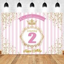 Yeele Baby Prinses Verjaardag Achtergronden Roze Streep Party Decor Photozone Banner Photo Fotografische Achtergrond Foto Studio Props