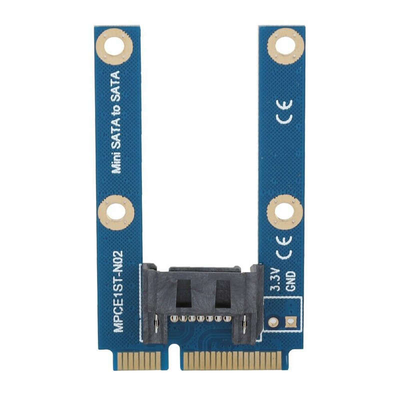 Msata Ssd To Sata Hard Disk Drive Adapter Card Board Support Full And Half Height