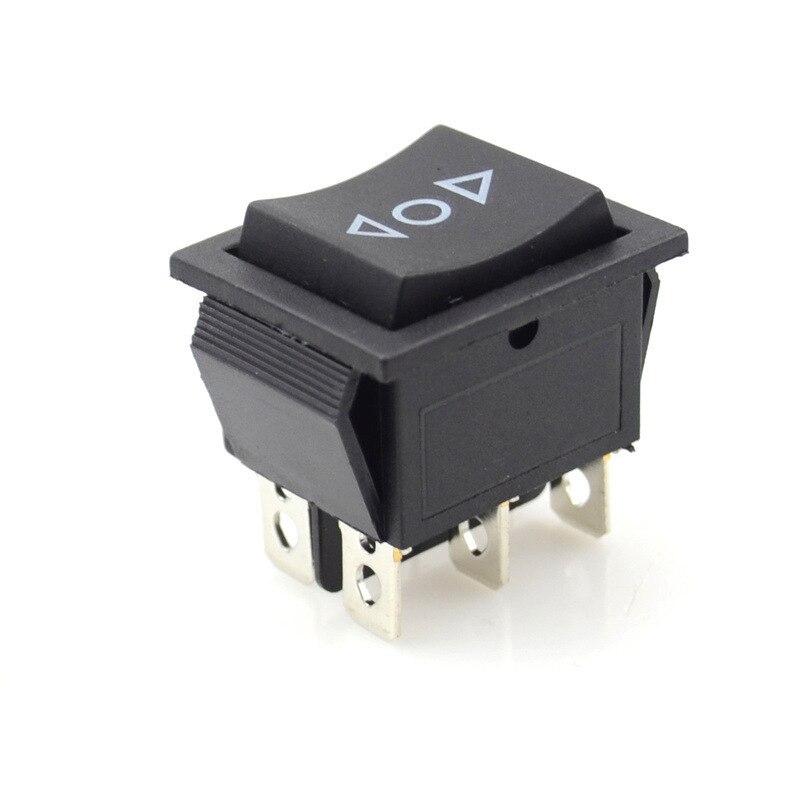 2 шт. KCD4 черный кулисный переключатель Мощность переключатель 6 Pin-код 3 позиции лодка Off-на однократно перекидной переключатель DPDT 16A 250VAC/ 20A 125VAC