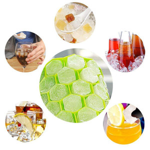 Image 5 - Home Kitchen Ice Cube Tray Summer Honeycomb Shape Ice Cube 37 Cubes Ice Tray Ice Cube Mold Storage Containers Drinks Molds