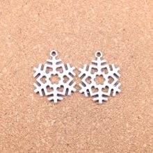 10 шт Подвески Снежная Снежинка 29x23 мм старинные подвески, Винтажные Ювелирные изделия из тибетского серебра, DIY для браслета ожерелье