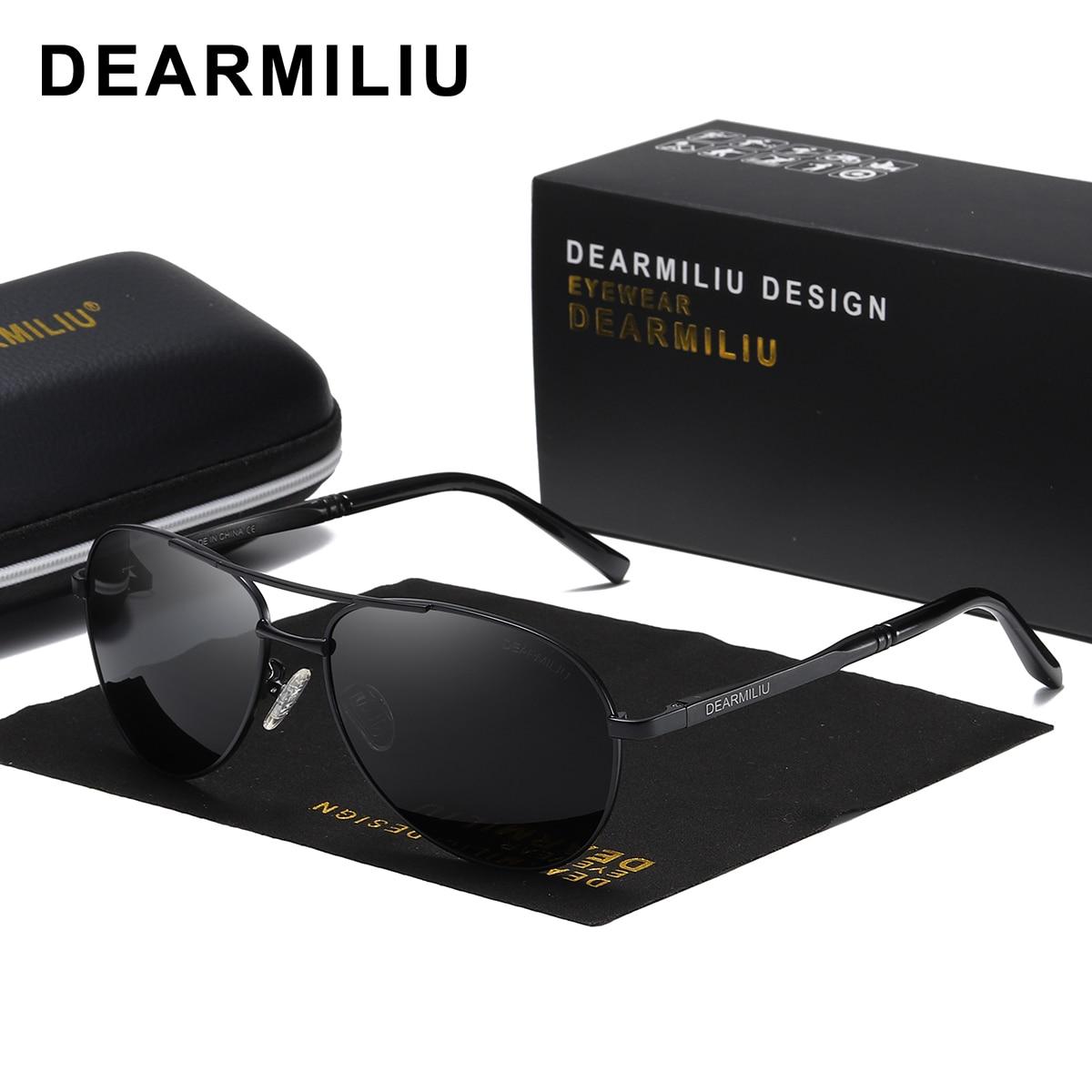 DEARMILIU Men's Sunglasses Brand Designer Pilot Polarized Male Sun Glasses Eyeglasses gafas oculos de sol masculino For Men 1306