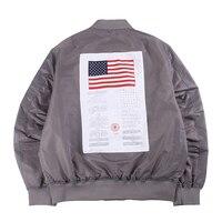 Classic Back Patch MA 1 Bomber Jacket Men Retro Hip Hop Pilot Coat Man Survival Streetwear Wind Breaker 2019