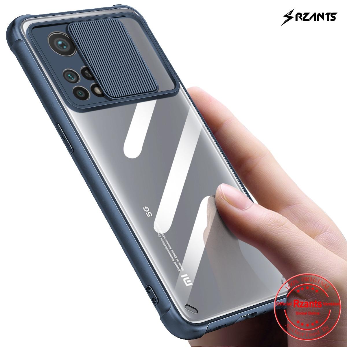 Мягкий чехол Rzants для Xiaomi Mi 10T Xiaomi MI 10T Pro [Защита объектива] Мягкий чехол прозрачная задняя Жесткая крышка чехол для телефона