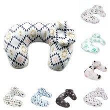 Детская наволочка для малышей, детский цветочный принт, u-образный чехол для подушки, удобный для новорожденных, кормящих грудью, наволочка, Прямая поставка