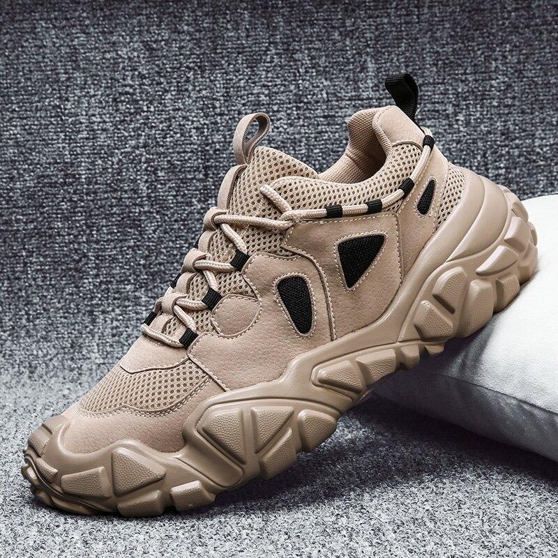 Hommes chaussures décontractées automne nouveau hommes bottes PU maille chaussures pour hommes mode dentelle baskets hommes en caoutchouc chaussures de Tennis chaussures hommes