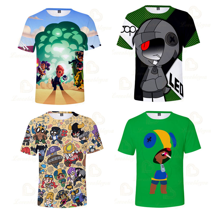 NITA Children's Crow Shoot Game 3D Print T-shirt Clothing Brawling T Shirt Star Women Kids Leon Tops 2020 Shirt Boys Girls