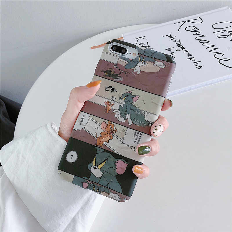 Meachy Tom Jerry Cartoon Telefoon Gevallen Voor Huawei Honor 20 8X9 9X10 V9 V19 Hard PC leuke Case Voor Huawei P20 P30 Mate 20 Pro Lite